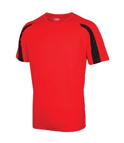 AWDis Herren T-Shirt Rot Fire Red / Jet Black