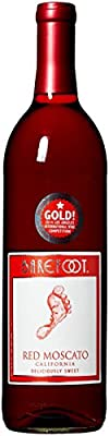 Barefoot Cellars California Red Moscato Wine 750mL