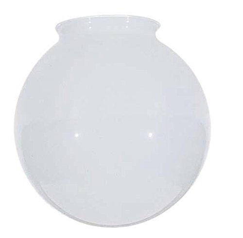 6-Inch White Glass Globe - 3-1/4-Inch Fitter Opening -