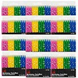 Chef Craft Birthday Candles, Polka Dot Stars, Set of 12 Packs -Total 288 Candles