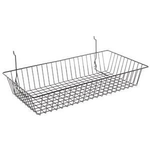 Black Gridwall Baskets, 24 x 12 x 4