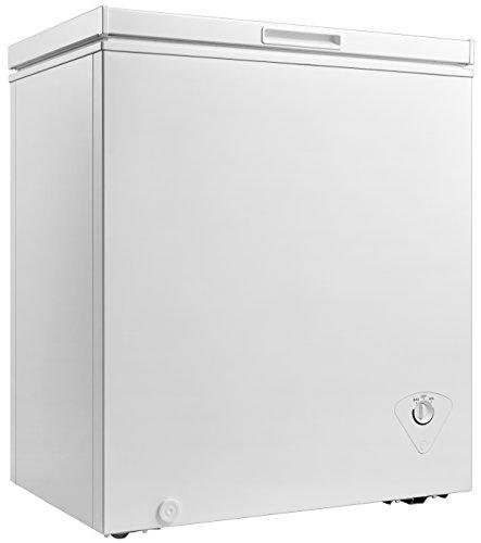 Midea WHS-185C1 Single Door Chest Freezer, 5.0 Cubic Feet, White