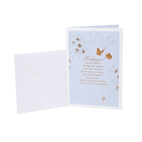 Hallmark 50th Anniversary Greeting Card (Golden Wedding Anniversary)