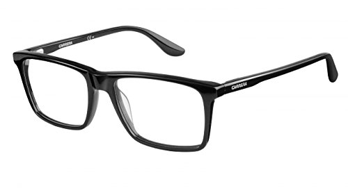 Carrera 6637N Eyeglass Frames CA6637N-0807-5417 - Black Frame Lens Diameter 54mm Distance
