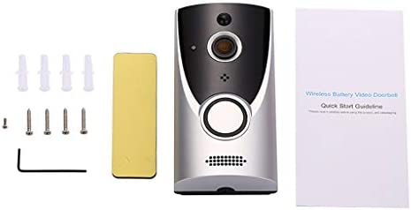 Jun® スマートワイヤレスビデオドアベル、セキュリティWiFiドアベル720P HD広角レンズドアビューカメラドアベルドアチャイム付きリアルタイム2方向トーク、ナイトビジョン、アプリリモートコントロール