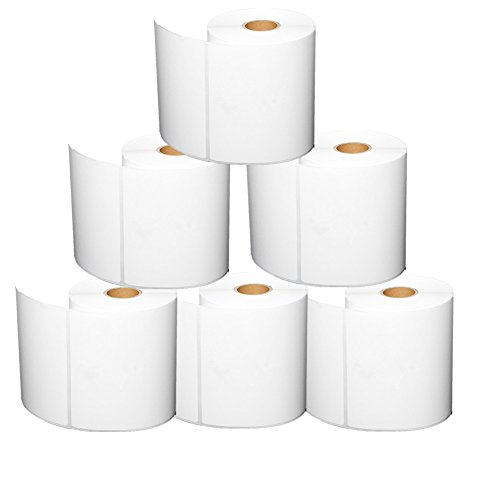 4x6 Blank Direct Thermal Shipping Labels For Zebra 2844 Zp-450 Zp-500 Zp-505,250/Roll,Total 6 Rolls