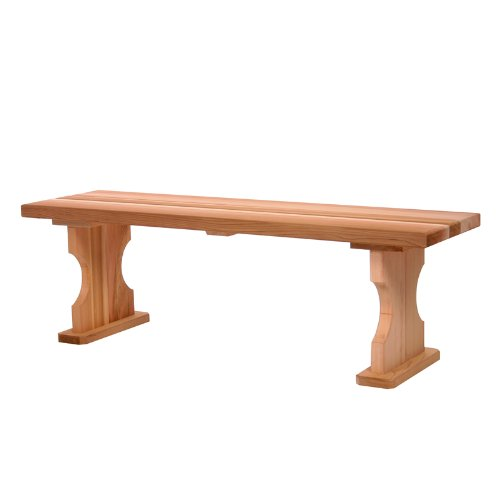 4' Backless Bench (CEDAR 4ft. Backless Bench)