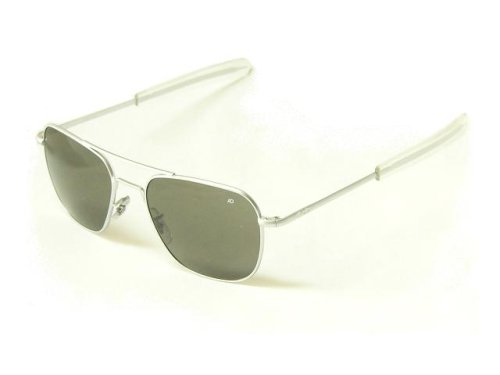 American Optical Flight Gear Original Pilot Sunglasses, 52mm lens, Chrome - Chrome Pilot Sunglasses