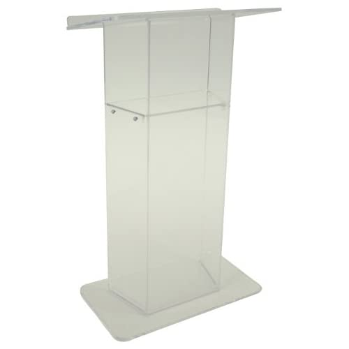 Image of Amplivox Frosted'Wing' Style Acrylic Lectern Thesauri & Translators
