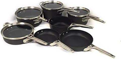 Calphalon Premier Hard Anodized Nonstick Space Saving cookware set 11-Piece