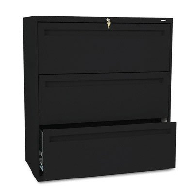 HON 783LP 700 Series 36 by 19-1/4-Inch 3-Drawer Lateral File, - Drawer Hon Cabinet 3 File