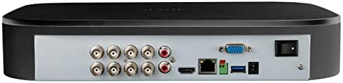 Lorex D241A81B 8 Channel 1080p Analog HD 1TB Security System DVR with Advanced Motion Detection Technology and Smart Home Voice Control, Black