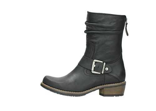 00572 nbsp;Lis black leather 50000 oiled Wolky Comfort Bottes BqwEwnaC