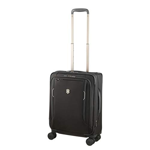 (Victorinox Werks Traveler 6.0 Softside Spinner International Carry-On Suitcase, 21-Inch, Black)