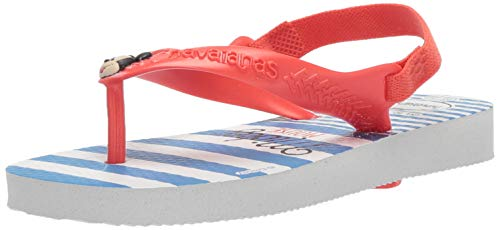 Havaianas Baby Disney Classic Flip Flop (Infant/Toddler/Little Kid),White/Strawberry,22 BR (8 M US Toddler)