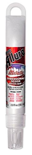 (E6000 57081253 753H Allure Metallic Dimensional Adhesive Paint, Chrome, 2 fl.)
