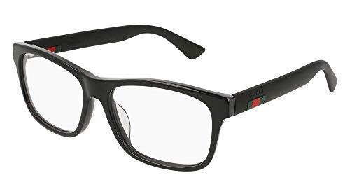 Gucci GG 0176O 001 Black Plastic Rectangle Eyeglasses -