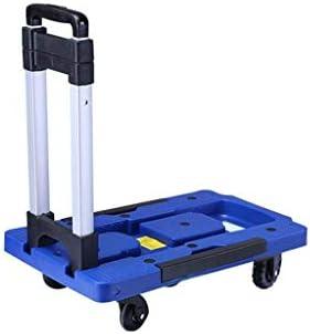 LPYMX Carrito portaequipajes Plegable Carrito de Compras Home Carro portátil - Carrito Plegable (Color : Azul)
