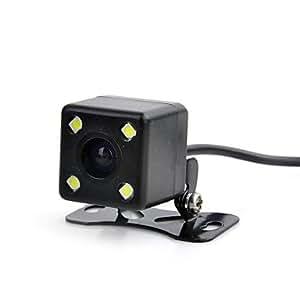 DF Marsing Adjustable 3030 Solution Waterproof 4-LED IR Night vision Car Rearview Camera (NTSC)(Black)