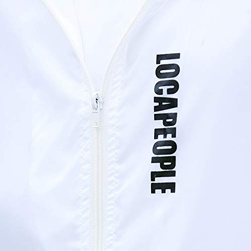 Windbreaker Lightweight Jackets Sportswear BHYDRY Outdoor Mens Casual Jacket White Polyester Bomber Coats Solid qBAT0Hn