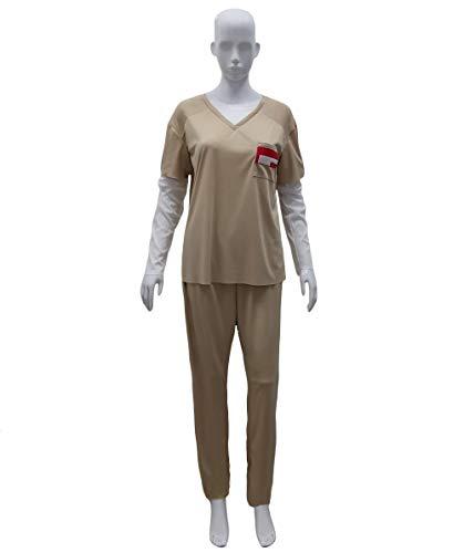 HalloweenPartyOnline Adult Women's Beige Prisoner Costume -