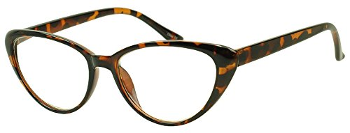 SunglassUP Super Vintage 1980's Rx Prescription Reading Glasses Power Strength +1.00 to +3.50 (Tortoise, - Glasses 1980