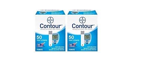 Bayer Contour Blood Glucose, 100 Test Strips (Blood Less Diabetic Test)