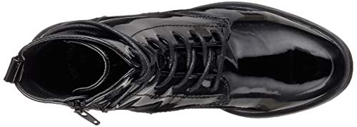 oliver 25102 Stivali Donna 5 18 Nero black Patent 21 018 S 5 Combat Sdxq4Sfwt