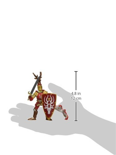 Papo The Medieval Era Figure Knight Stag Red Hotaling 39911 B000NUPIS6