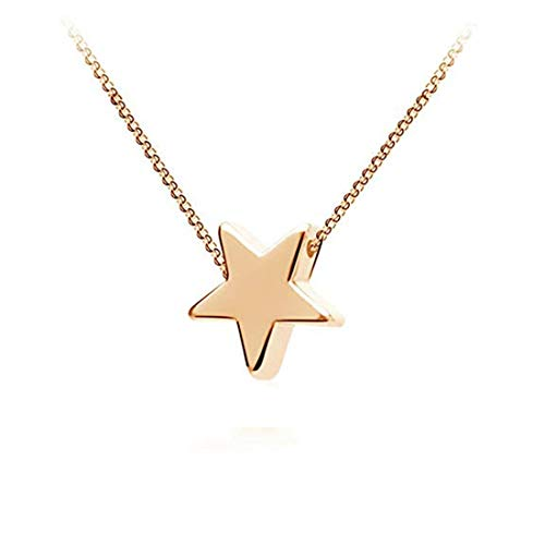 UNKE Cute Star Necklace Rhinestone Pendants Dangle Choker Collarbone Chain Delicate Charms Jewelry