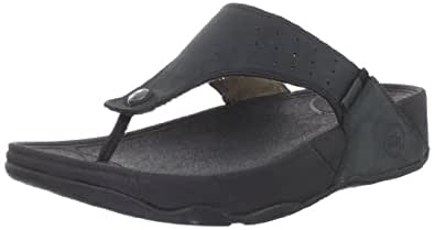 FitFlop Men's Trakk Thong Sandal,Black,11 M US