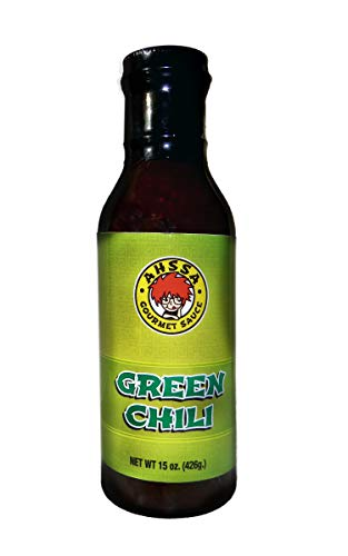 Green Chili Sauce - Cooking or Marinade - Goes Great on Stir-Fry, Marinate Meat or Seafood, Vegetable or Rice Dish & More (1 Bottle) (No High Fructose Corn Syrup)