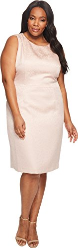 Tahari by ASL Women's Plus Size Sleeveless Dress Blush Pink 12 (Asl Sleeveless Dress)