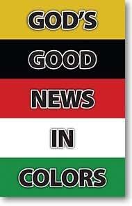 God's Good News In Colors (Gospel Tract, Packet of 20, KJV)