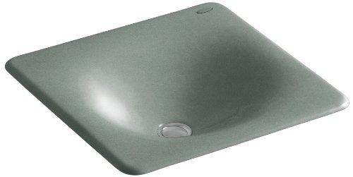 "UPC 650531548337, KOHLER K-2827-FT Iron/Tones Cast Iron Undercounter/Self-Rimming Bathroom Sink, 16-3/8"" X 15-5/8"", Basalt"