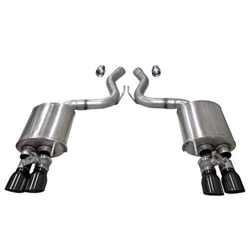 Corsa Exhaust 21002BLK 2018-2019 Ford Mustang Gt Dual Rear Exit, Valve Axle-Back Exhaust System with Twin 4.0