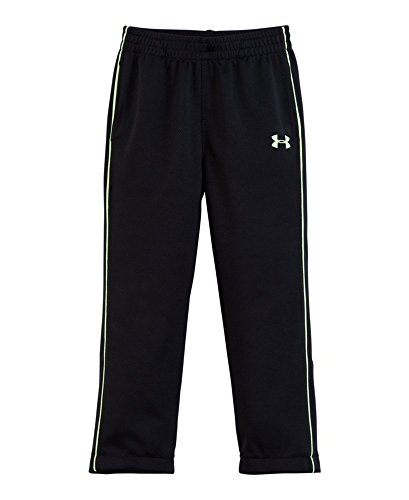 Under Armour Little Boys' Toddler Midweight Warm-Up Pant, Black, 4T