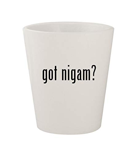 got nigam? - Ceramic White 1.5oz Shot Glass