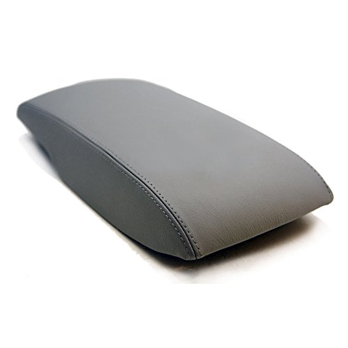 Comfortable Gray Microfiber Leather Console Lid Armrest Cover Fit for 2007-2011 Toyota Camry