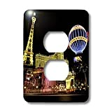 3dRose LLC lsp_37789_6 Paris Hotel And Casin At Las Vegas Strip United States 2 Plug Outlet Cover