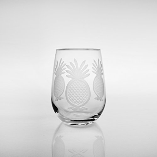 Pineapple All Purpose Wine Tumblers-Set of 4 from Maison Beach For Sale