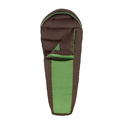 Eureka! Grasshopper 30 Degree Childrens Mummy Sleeping Bag; Comfortable, Lightweight Four-Season, Thermally Efficient Bag for Camping - Green/Brown - Childrens