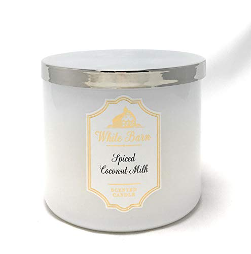 White Barn Bath & Body Works Candle 3 Wick 14.5 Ounce Spiced Coconut ()