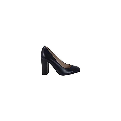 Peter Kaiser Arena Damas Bloque Formal Zapatos De Tacón En Negro azul marino