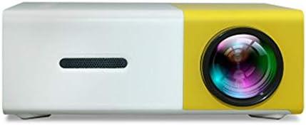 ホームシアター プロジェクター USB/AV/HDMI HDインターフェースを持つポータブルミニプロジェクターホームプロジェクター ゲーム機に対応 (Color : Yellow+White, Size : One size)