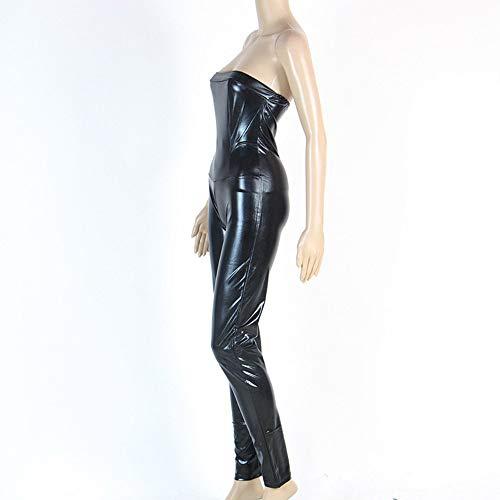 Grenouillres XSQR Catsuit Combishorts Fermeture Arrire Cuir Femmes Enveloppez Sexy Bodysuit Invisible Femme Latex Les Wetlook clair Collants Uqp8UI