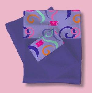 Room Magic Twin Sheets/Pillowcase Set, Girl Teaset