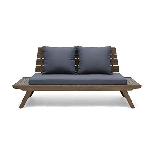 Christopher Knight Home Sedona Outdoor Wooden Loveseat with Cushions by