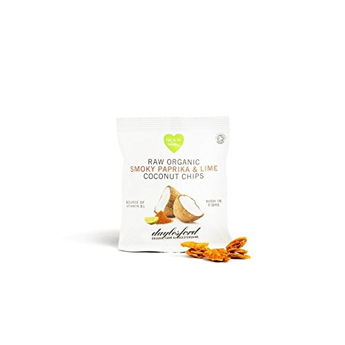 Daylesford Raw Organic Smoky Paprika & Lime Coconut Chips 25G (Pack of 2)