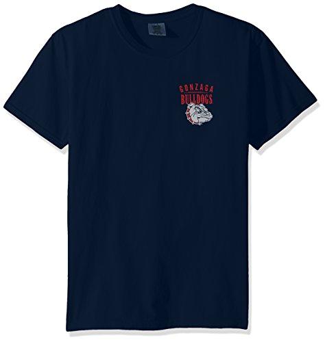 Ncaa Gonzaga Bulldogs Adult Unisex Ncaa Limited Edition Comfort Color Short Sleeve T Shirt Large Truenavy